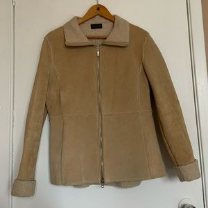 Guess Genuine Leather Sherpa Jacket size M